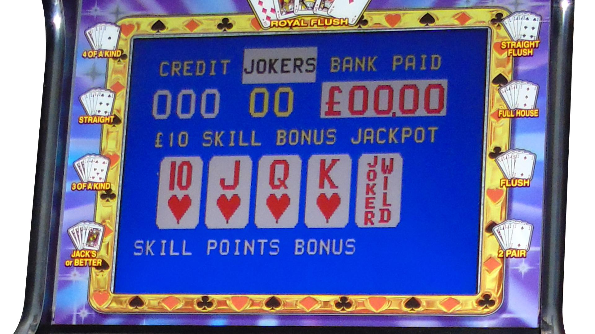 deluxe poker machine closeup