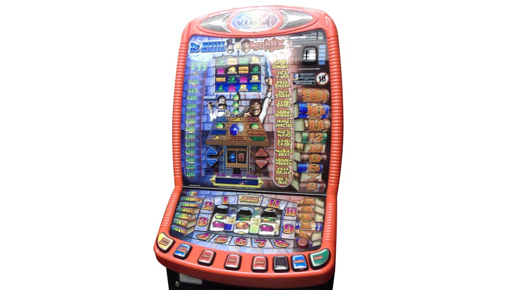 fruit machine closeup