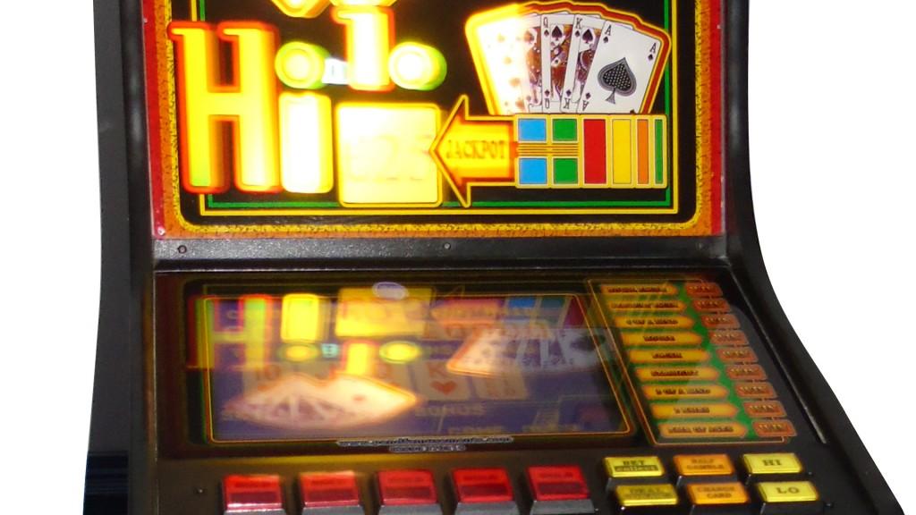 slimline poker machine closeup